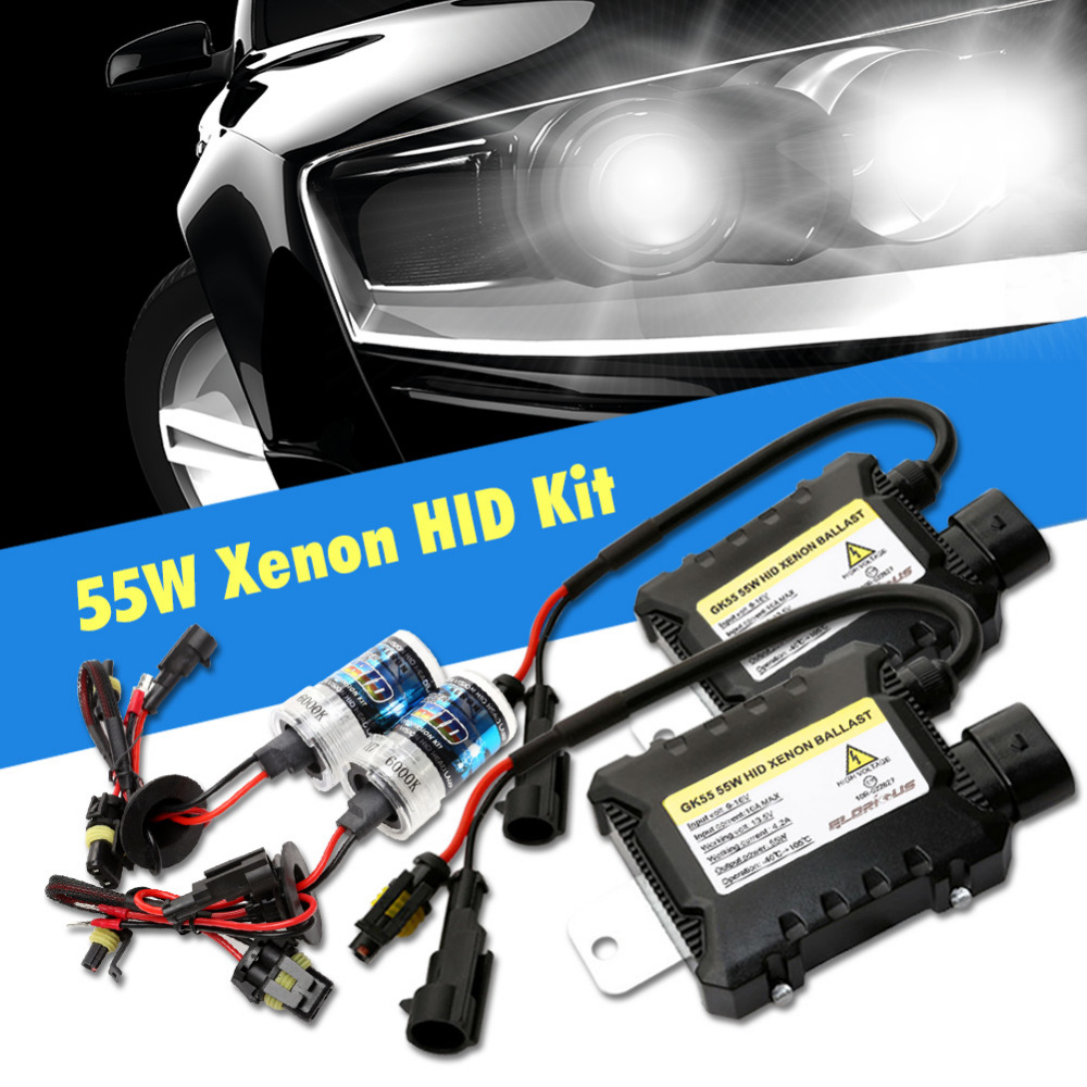 H7 xenon H4 HID Kit for car Headlight H1 H3 H4 H8 H9 H11 9005 HB3 9006 HB4 881 D2S 4300K 6000K 8000K xenon H7 HID Bulb Ballast