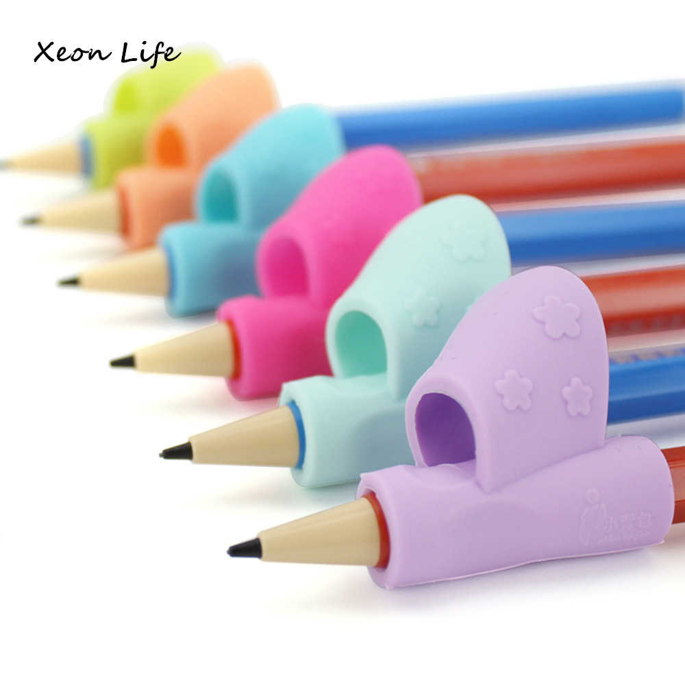 ISHOWTIENDA 3PCS/Set Children Pencil Holder Pen Writing Aid Grip Children Pencil Holder Pen Writing Aid Grip Posture Correction