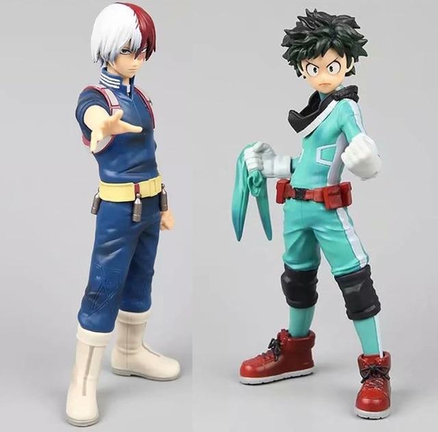 2pcs Izuku Midoriya Shoto Todoroki Super Hero Comic Anime My Hero Academia Boku no Hero Banpresto DXF SP 17cm Figur Figurine Toy