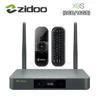 Оригинальный Zidoo X9S Smart ТВ BOX для Android 6,0 + OpenWRT (NAS) realtek RTD1295 2 г/16 г 802.11ac WI FI Bluetooth 1000 м LAN Media Player