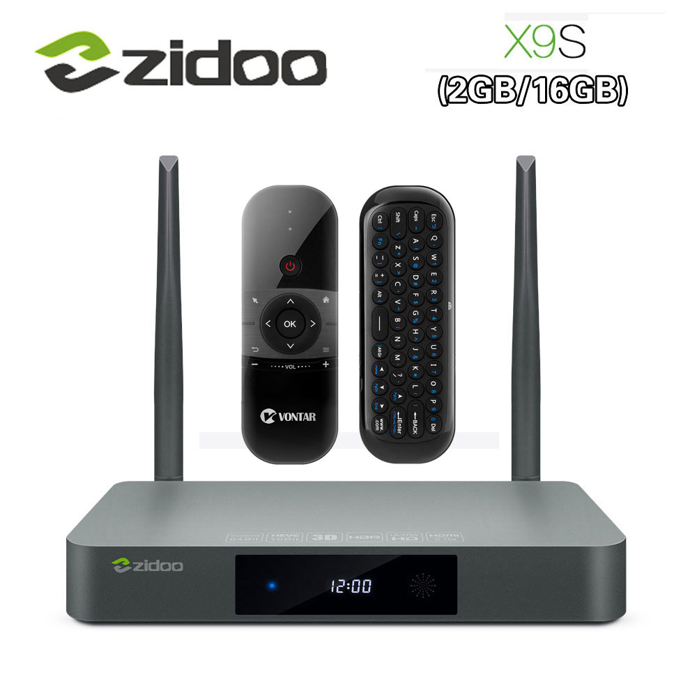 D'origine Zidoo X9S Smart TV BOX Android 6.0 + OpenWRT (NAS) realtek RTD1295 2g/16g 802.11ac WIFI Bluetooth 1000 m LAN Media Player