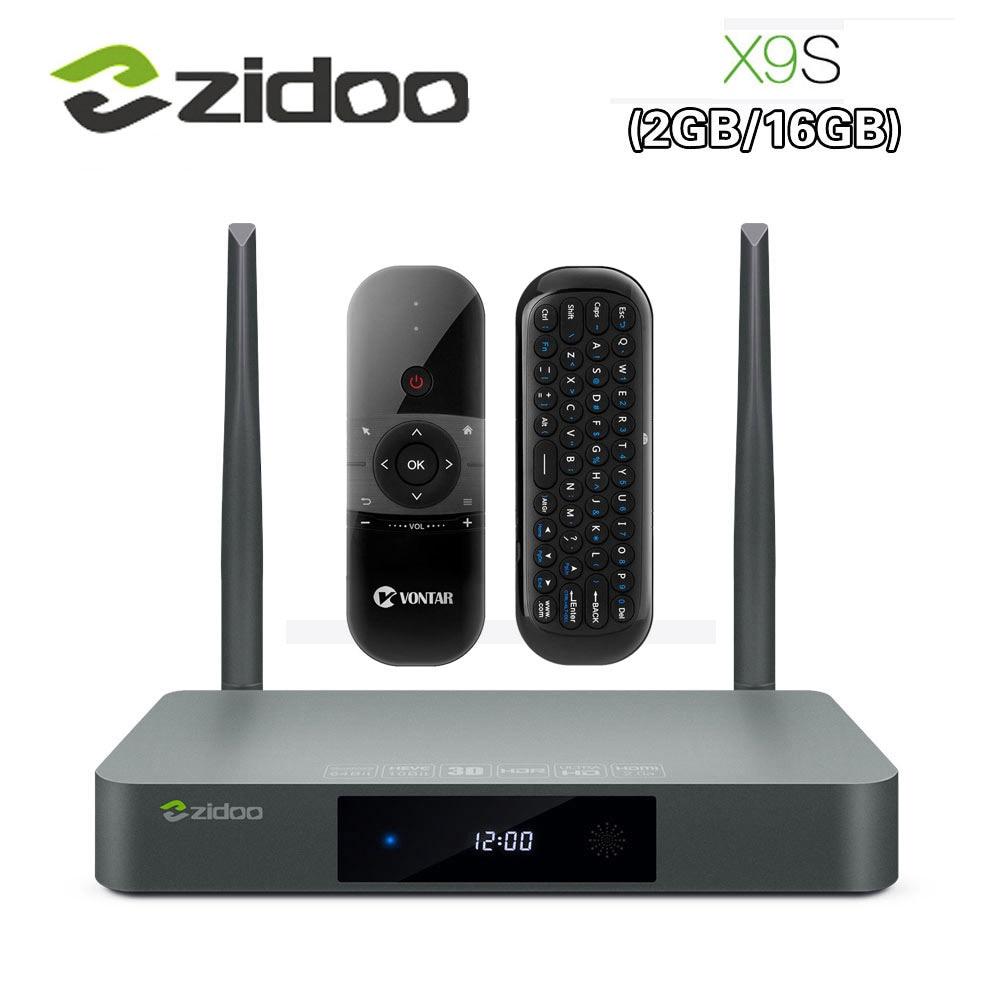 цена на Original Zidoo X9S Smart TV BOX Android 6.0 +OpenWRT(NAS) Realtek RTD1295 2G/16G 802.11ac WIFI Bluetooth 1000M LAN Media Player