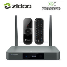Оригинальный Zidoo X9S Smart ТВ BOX для Android 6,0 + OpenWRT (NAS) realtek RTD1295 2 г/16 г 802.11ac WI-FI Bluetooth 1000 м LAN Media Player