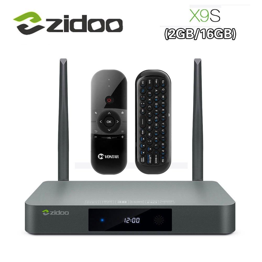 Originale Zidoo X9S Smart TV BOX Android 6.0 + OpenWRT (NAS) realtek RTD1295 2g/16g 802.11ac WIFI Bluetooth 1000 m LAN Media Player