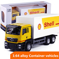 1:64 alloy vehicles,high simulation  Container vehicles model,Inertial taxiing toys,children's educational toy,free shipping