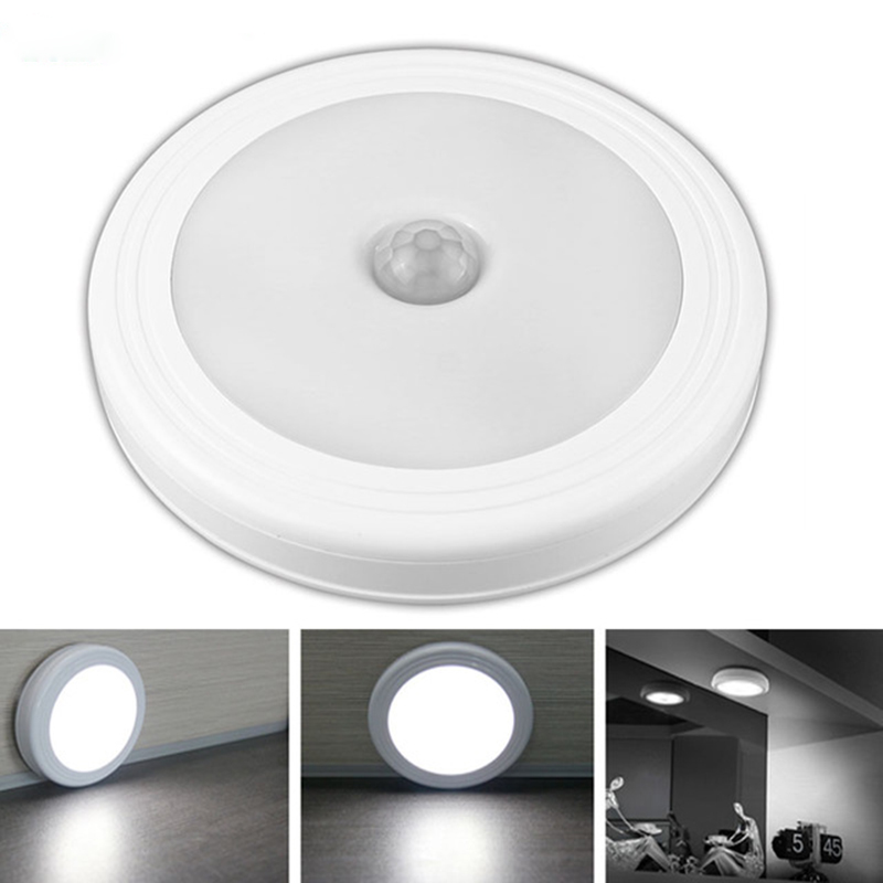 Magnetic Infrared IR Bright Motion Sensor Activated LED Wall Lights Night Light Auto On/Off ...