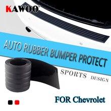 цена на KAWOO For Chevrolet Aveo Sail Cruze Lova Epica Captiva Rubber Rear Guard Bumper Protect Trim Cover Sill Mat Pad Car Styling