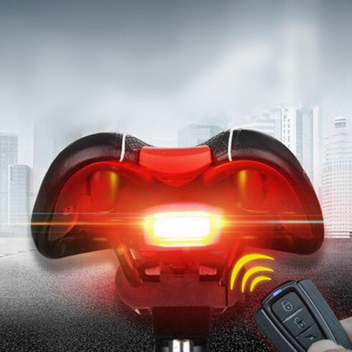 120db Fahrradalarmanlage Alarmschloss Fahrrad Lampe Rücklicht Fernbedienung DHL