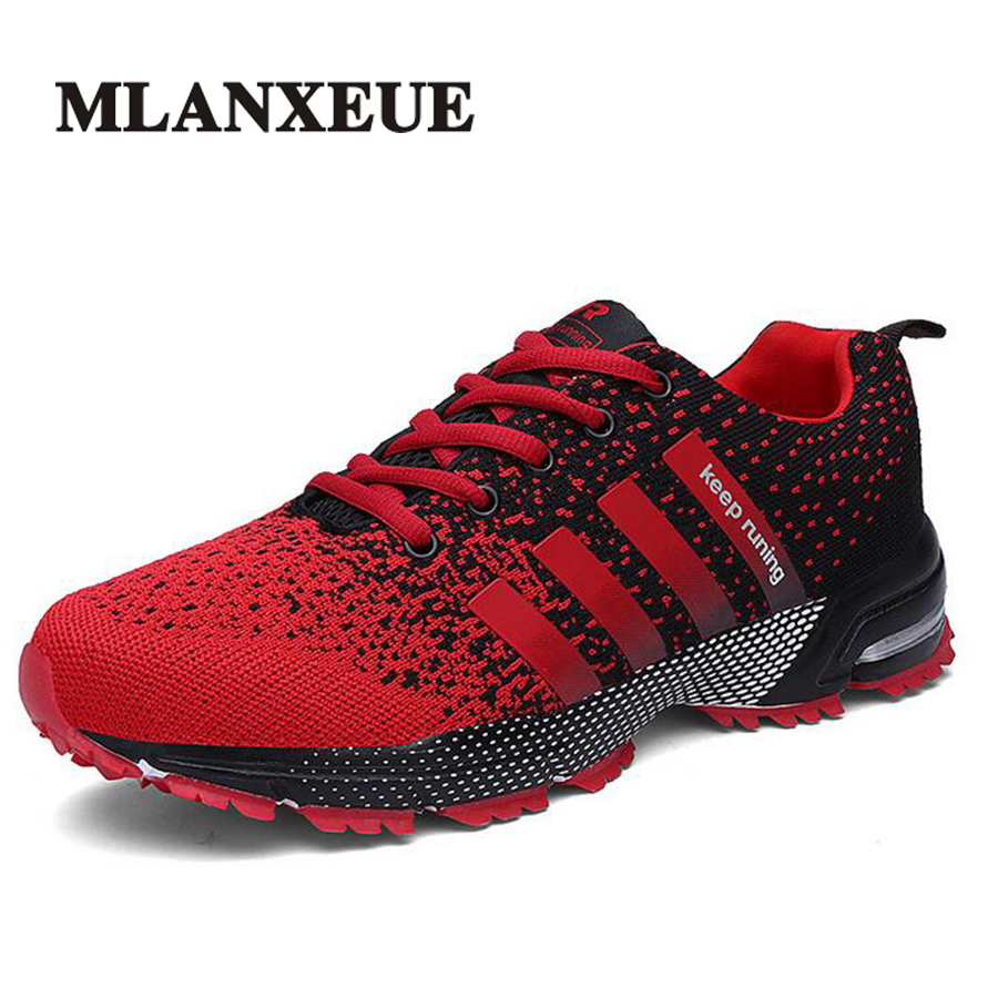 Mlanxeue Mode Respirant Lovers Unisexe Casual Chaussures à lacets Hommes Chaussures Humains Confortable Course Mâle Chaussure Taille 35-46
