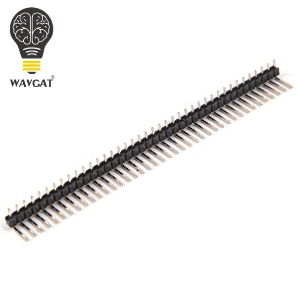 10 Pcs New 40pin 2 54mm Single Row Single Pin Curved Pin