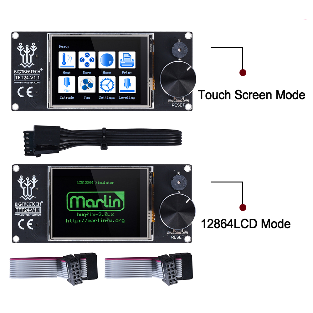 Image 3 - BIGTREETECH SKR V1.3 32Bit Controller Printer Board TFT24 Touch  Screen 5pc TMC2208 TMC2209 UART TMC2130 spi MKS GEN L 3d parts3D  Printer Parts