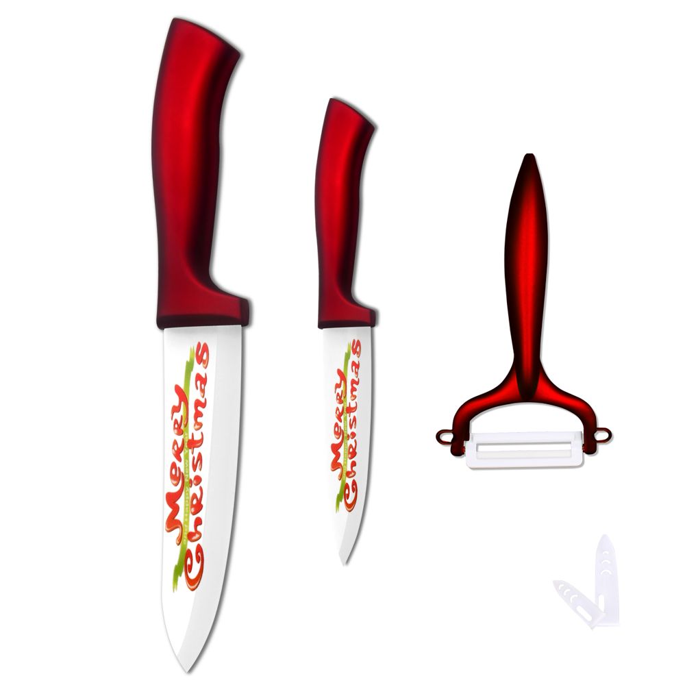 XYj Paring Chef Ceramic Knife & Peeler New Year Gift Red Handle ...