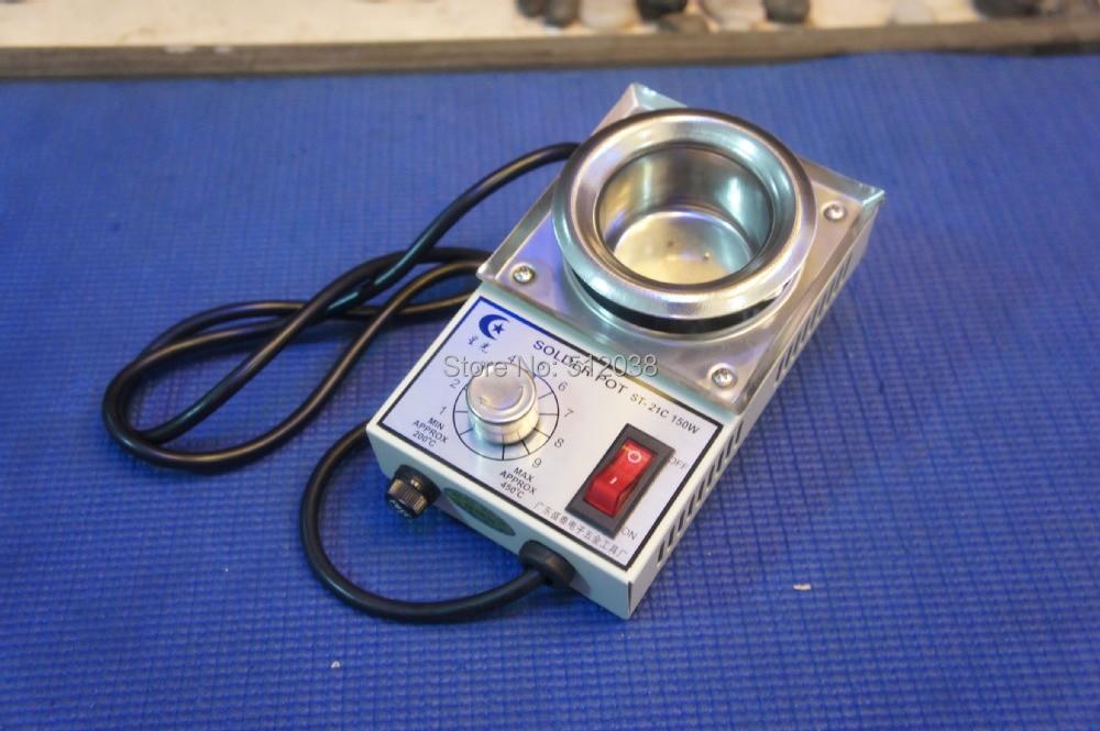 ST 21C 220V 150W Solder Pot/solder machine Soldering Desoldering Bath 50mm 450 Degree Max