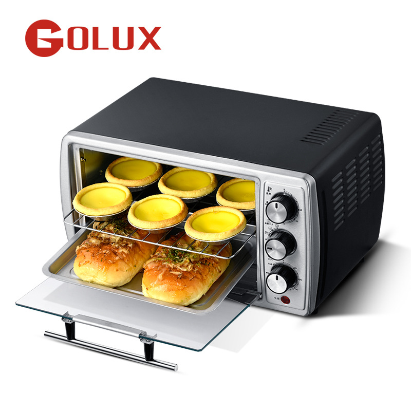 14-liter Smart Mini Home Independent Electric Oven Stainless Steel Panel Precise Temperature Control Intelligent Timing
