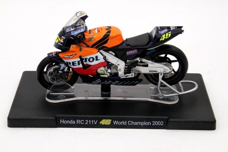 1:18 סולם הונדה RC211V 46 אלוף העולם 2002 - צעצוע כלי רכב