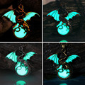 Game of Throne dragon Punk Dragon Pendants Necklaces GLOW in the DARK dragon amulet Sweater Chain Gift ancient 4 color handmade