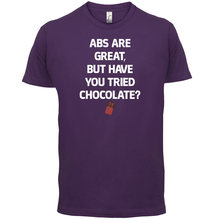 Abs Are Great, Chocolate - Mens T-Shirt Funny / Diet GymER Healthy Print T Shirt Free shipping Hot Tops Tshirt Homme