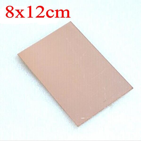 8 см x 12 см Односторонняя печатная плата из меди, ламинат FR4