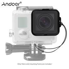 Andoer площади объектив фильтр защитный комплект(ND2/ND4/ND8/ND16) для GoPro Hero4/3+/3 w/монтажная рама держатель