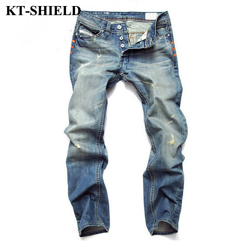 2017 New Ripped Jeans Men Cotton Large Size 28-42 Skinny Denim Pants Mens Fashion Famous Designer Brand Jean Pants Biker Jeans 2017 fashion patch jeans men slim straight denim jeans ripped trousers new famous brand biker jeans logo mens zipper jeans 604