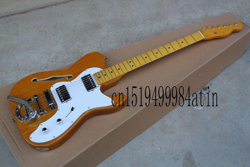 Livraison gratuite nouveauté guitare personnalisée F-TL Telecaster JAZZ 6 cordes bois couleur guitare électrique avec grand rocker