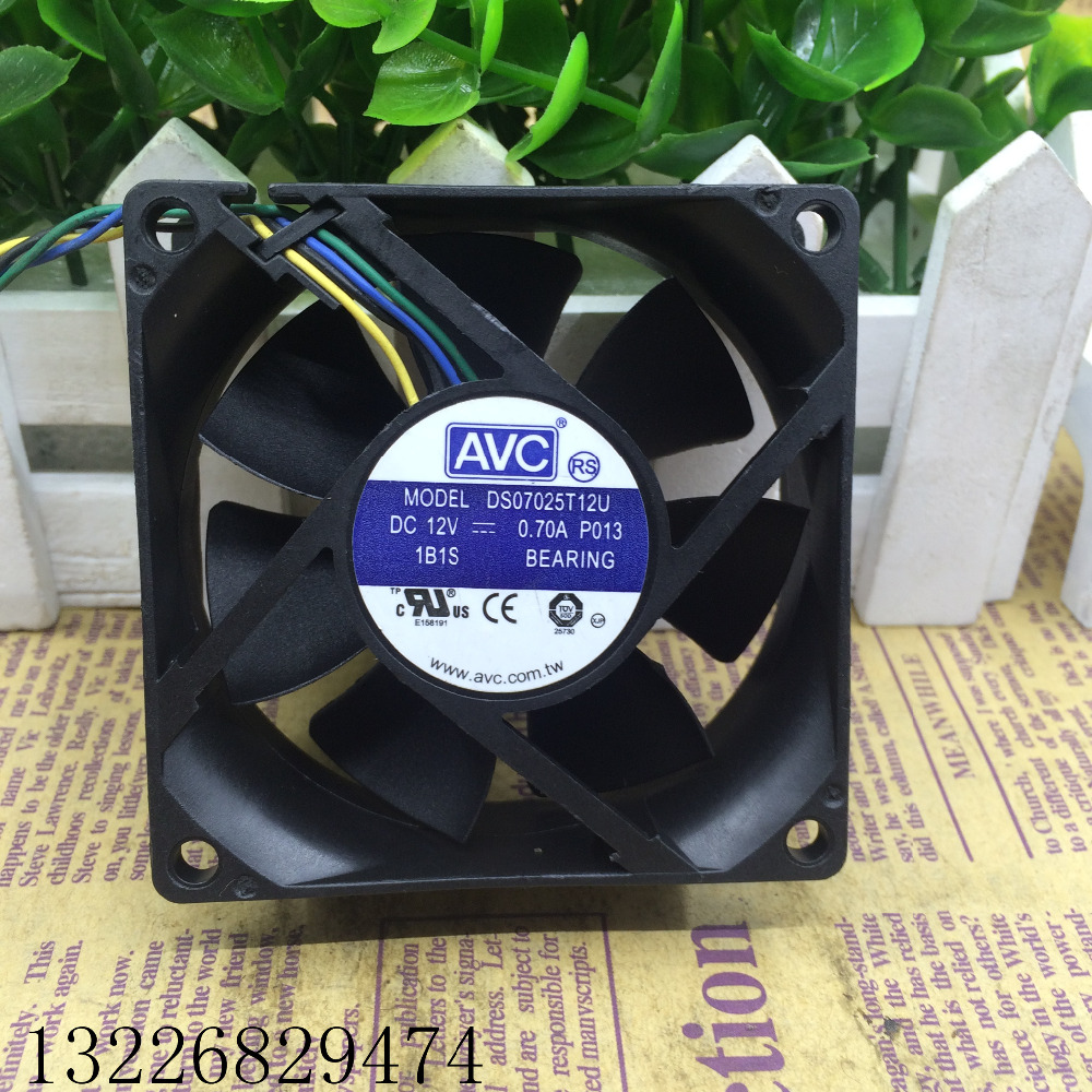 New Radiator CPU Cooler <font><b>Fan</b></font> For DS07025T12U 70*70*25MM <font><b>70mm</b></font> 7025 DC 12V 0.70A P013 4 Pin <font><b>PWM</b></font> Computer PC Cooling 18~50CFM image