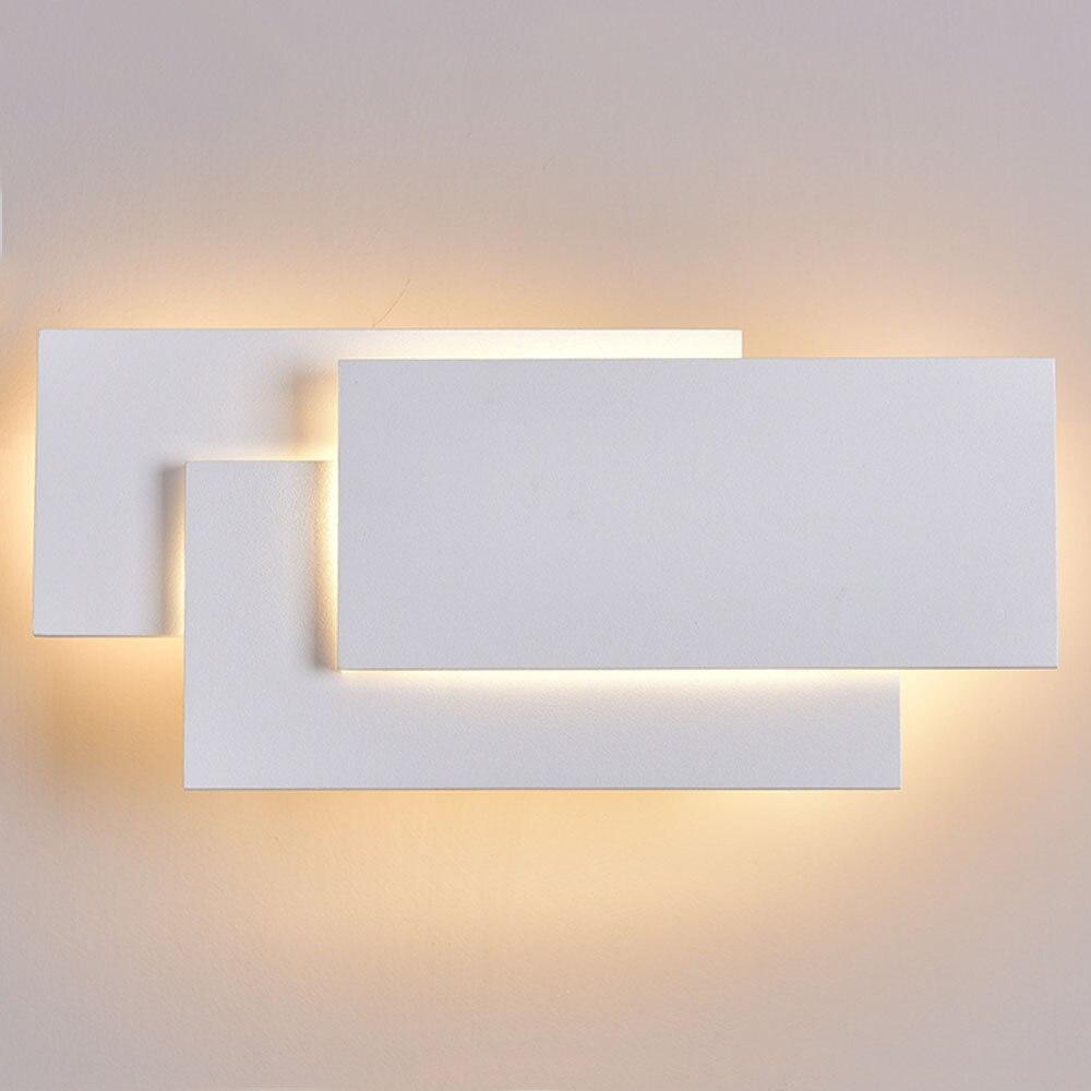 Современный светодиодный алюминиевый гостиной Спальня коридор краткое ночники ТВ фон настенный светильник бра zbd0041
