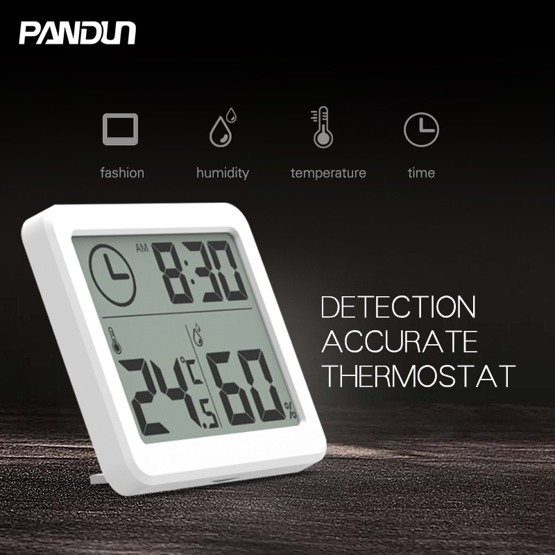PANDUN ultra thin simple LCD digital LCD hygrometer thermometer accurate and durable electronic energy saving temperature and hu in Building Automation from Security Protection