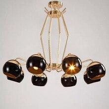 Современный стиль гостиной спальня минималистский ресторан подвесной светильник Nordic одежда украшения стеклянный шар