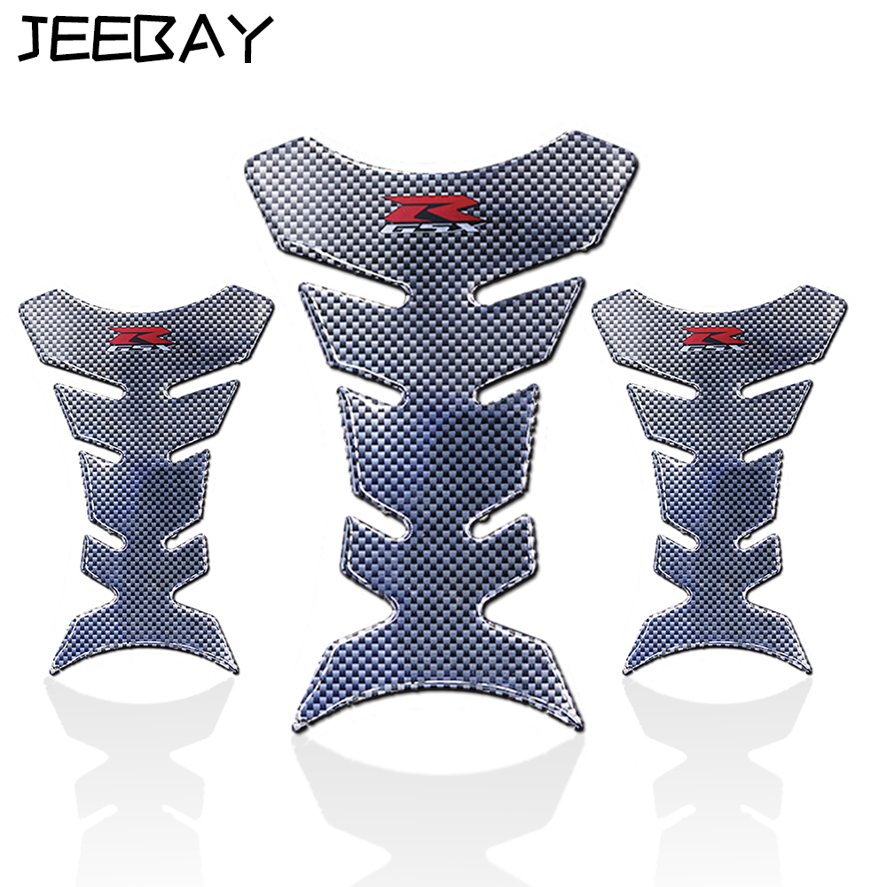 JEEBAY Tank Pad Carbon Fiber Motorcycle Sticker Accessory Stickers On Motorcycle Decals Racing Motocross Tank Protector For Gsx