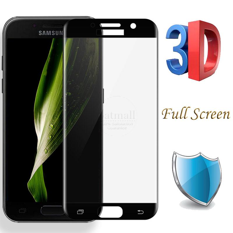 New 0.26mm Full Screen 3D Curved surface Tempered Glass Film For Samsung Galaxy A5 2017 A520 Glass Screen Protector Saver 9H