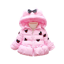 Anlencool 2019 girls winter children's clothing embroidered Mickey thickened warm cotton coat baby winter fashion cotton jacket