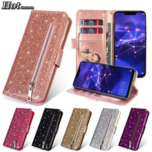 Funda Huawei Mate 20 Lite Case Luxury Glitter Phone Cases For Hoesje Huawei Mate 20 Pro Case Leather Flip Wallet Cover Mate 20