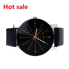 Man watch Dial Clock Wrist Watch Men Women Leather Band Round Case Business Wrist Watch reloj hombre
