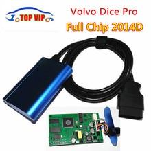 Professional Diagnosis V-o-l-vo Dice Pro 2014D OBD2 Car Diagnostic Tool Vida Dice Full Chip Green Board High Quality OBD Scanner