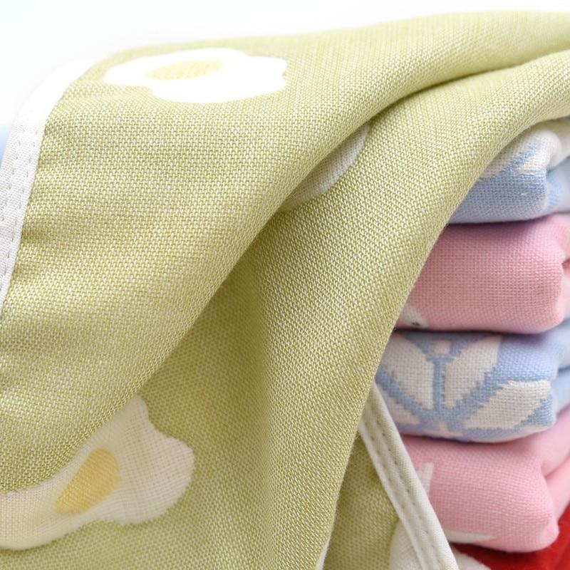 Купить с кэшбэком Cotton Gauze Kids Towel Toddler Soft 6 Layer Soft Gauze Baby Boys girls Face Towel Infant Absorbent Drying Bath Beach Face Towel