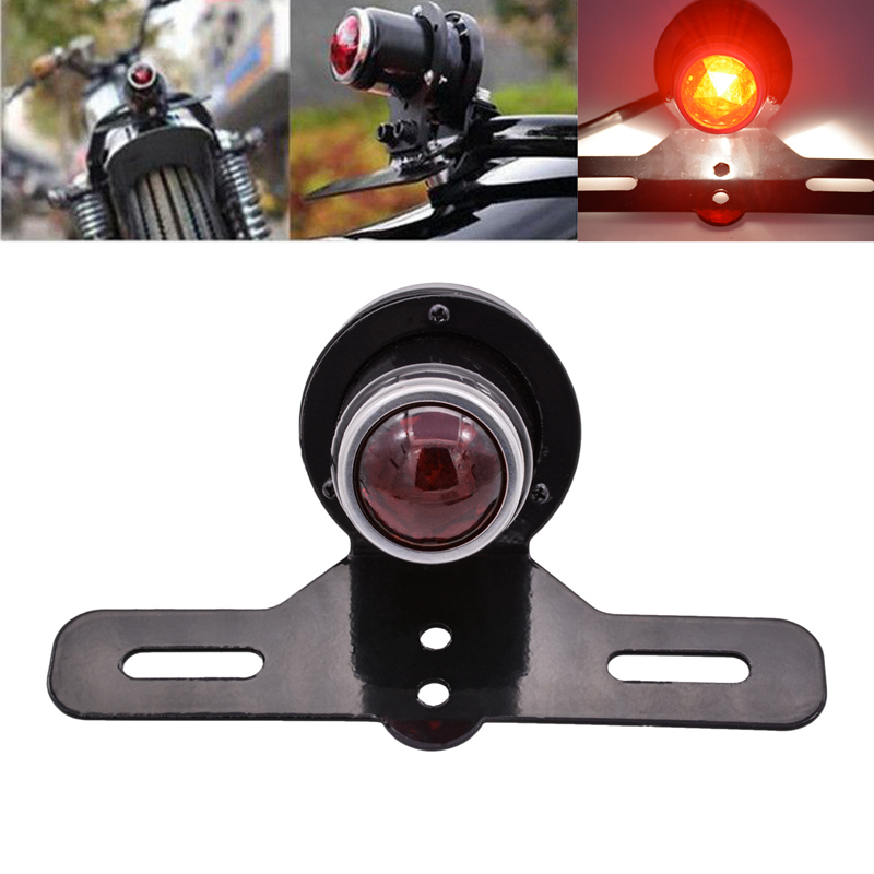 Katur 1 Round Motorcycle Brake Tail Light for Harley Honda Yamaha Suzuki Kawasaki Tail Lights Moto Styling