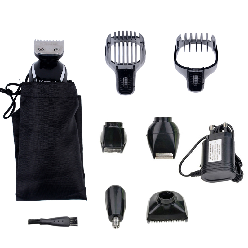 5 in 1 Rechargeable Cordless Hair Clipper Precision Trimmer Beard Trimmer Nose Hair Trimmer Foil Beard Trimmer with Turbo Button rechargeable washable hair and beard trimmer clipper with accessories set 220 230v ac