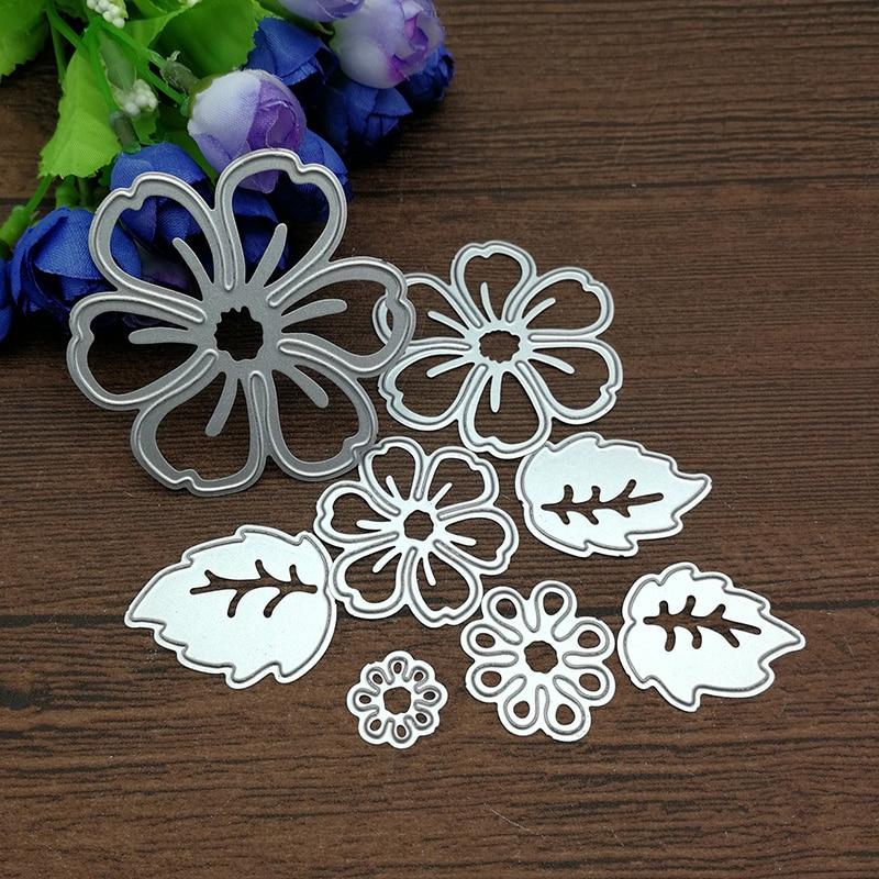 8pc Flower Spring Leaf Metal Cutting Dies Stencil Scrapbooking Photo Album Card Paper Embossing Craft Diy #4