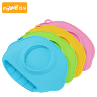 BPA Free Super Soft Baby Silicone Mat Water Proof Kids Utensils Tableware Bowl Dinner Mat Blue