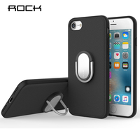 ROCK Ring Holder Case For IPhone 7 7 Plus Luxury Soft Silicone TPU Kickstand Ring Stand