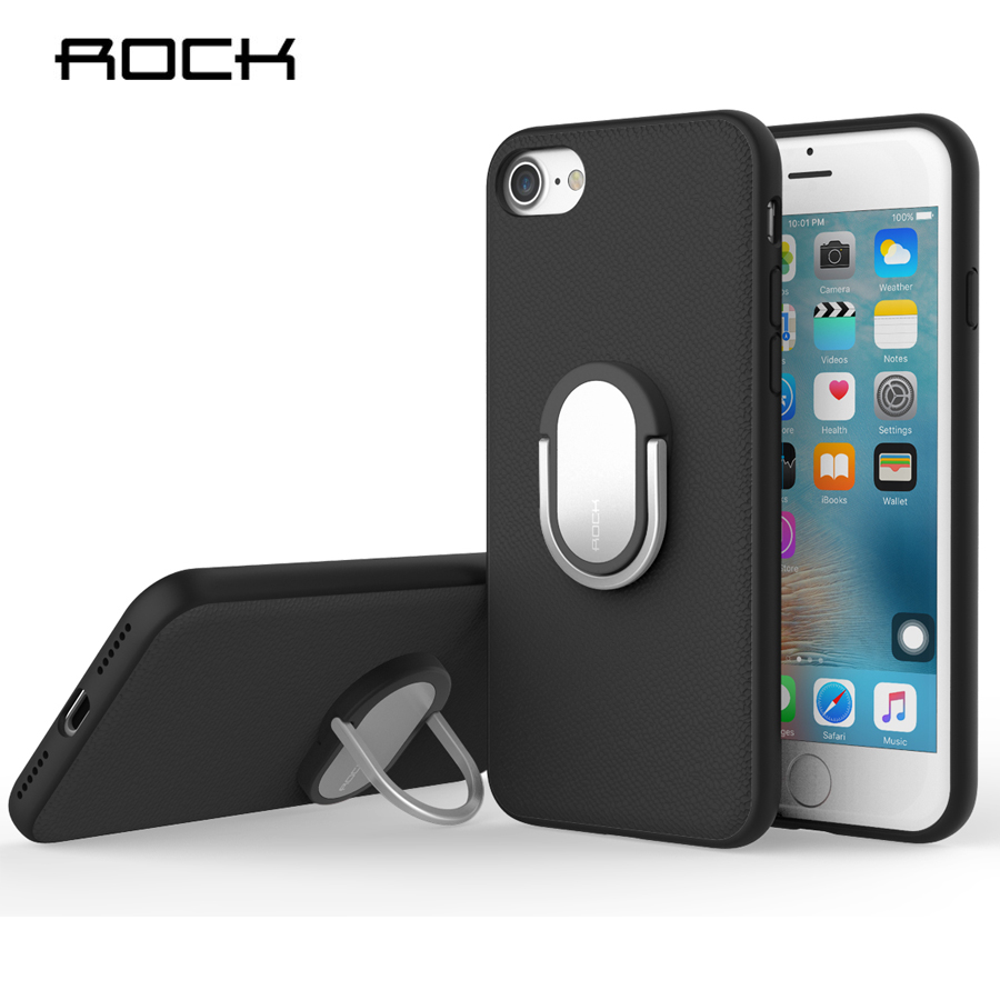 ROCK Ring Holder Case For iPhone 7 / 7 Plus Luxury Soft Silicone TPU Kickstand Ring Stand Case For iPhone7 Plus Phone Back Cover