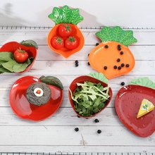 Cute Fruit Shape Salad Bowl Vegetable Styling Dish Plate Dessert Steak Snack Cake Plates for Home or Outdoor