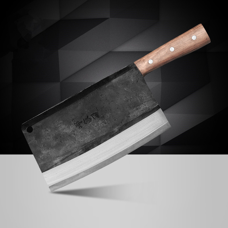 Free Shipping DENG Carbon Steel Forged Handmande Professional Chef Knife Kitchen Cutting Meat Vegetable Household Slicing