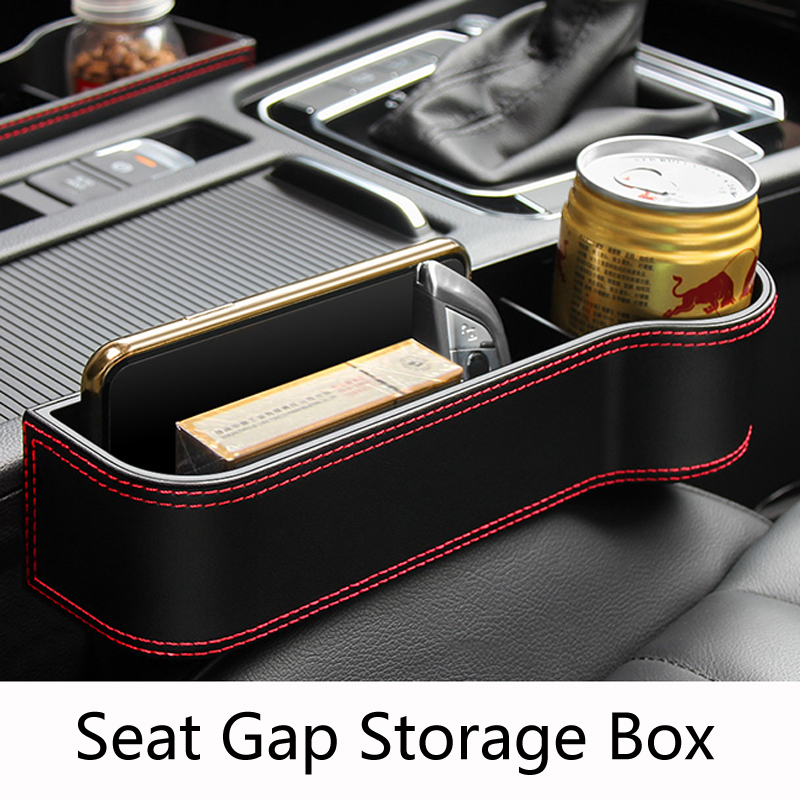 Car Seat Gap Storage Box Organizer For BMW F10 F30 E60 <font><b>Ford</b></font> <font><b>Focus</b></font> 2 3 Fiesta Polo Passat B6 KIA Rio Ceed Sportage Mazda 3 6 Cx-5 image
