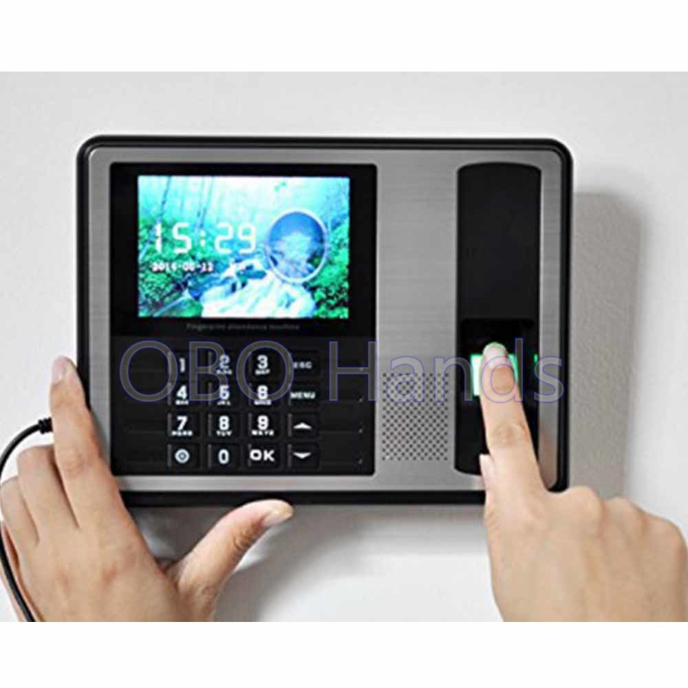 1000User 4.3inch TFT biometric time recorder Fingerprint Time Attendance Clock  Digital machine for Employee office цена и фото