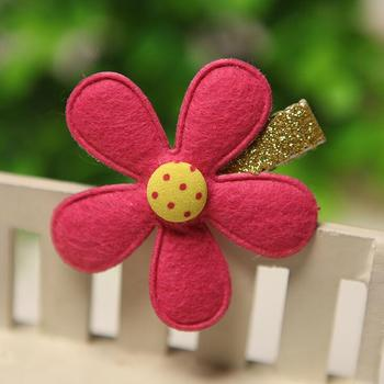 100pcs/lot  Handmade wool felt dots DIY flowers for jewelry headwear