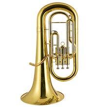 Профессиональный euphonium 3 прямой ключ Bb бас французский Рог золото Lacque Труба латунь материал Музыкальные инструменты JBEP-1180