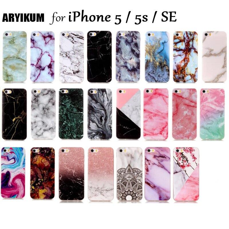 Fundas de teléfono Para iPhone 5 S Coque iPhone SE carcasa de mármol de silicona Para iPhone 5 TPU contraportada Para iPhone 5se funda Capinha Para