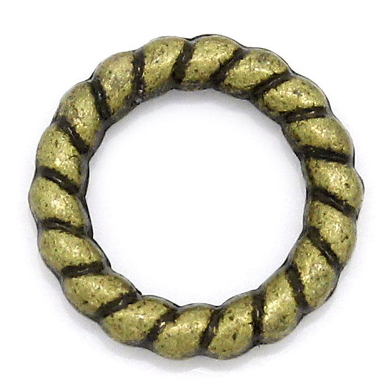 DoreenBeads Zinc metal alloy Closed Soldered Jump Rings Round Antique Bronze 10mm( 3/8) Dia, 30 PCsDoreenBeads Zinc metal alloy Closed Soldered Jump Rings Round Antique Bronze 10mm( 3/8) Dia, 30 PCs